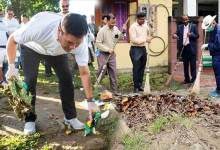Photo of Gandhi Jayanti celebrated across the state: Governor, CM  participate in  'Safai Abhiyan'