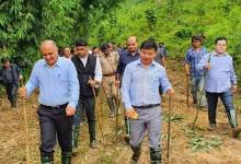 Photo of Arunachal: High level team led by CS, inspected the site for Mega Food Park