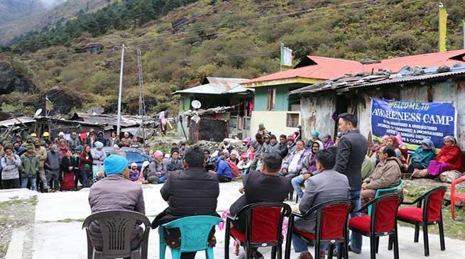 Tawang: APB&OCWWB conducted week long awareness camp for the labours