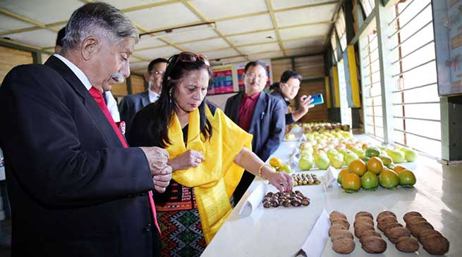 Arunachal: Governor visits State Horticulture Farm, Trout Hatching Farm at Shergaon