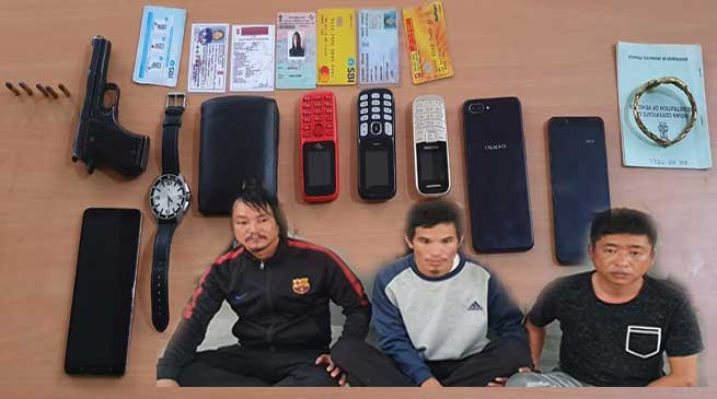 Itanagar: 3 Extortionists With Arms held For Demanding Rs 1 Crore