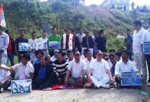 Itanagar: APCC protest against NDA govt over economic situation in country