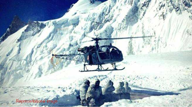 Avalanche in Siachen Glacier, 8 soldiers trapped