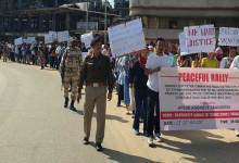 Itanagar: Protest march by APSSB AGGRIEVE Candidates