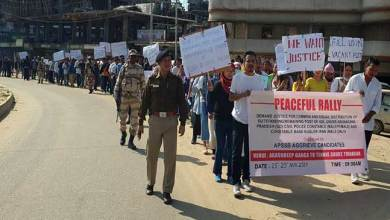 Photo of Itanagar: Protest march by APSSB AGGRIEVE Candidates