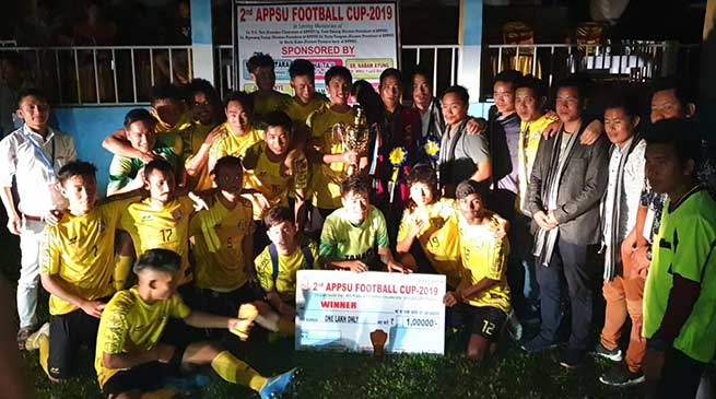 Arunachal: United Doimukh FC lift the 2nd APPSU football cup-2019