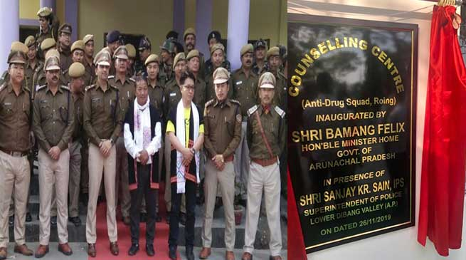 "Arunachal: Felix lauded LD Valley police for establishing a ""Counselling Centre"" for drug user"