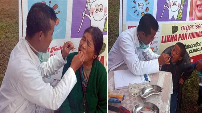 Arunachal: LPF organised free dental checkup camp at Kugi Tago Panchayat