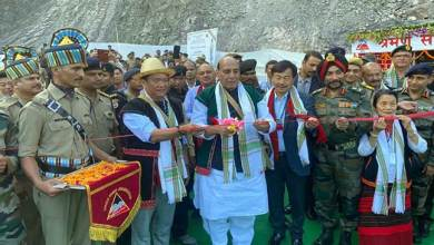 Photo of Arunachal:  Rajnath Singh inaugurates Sisseri River bridge
