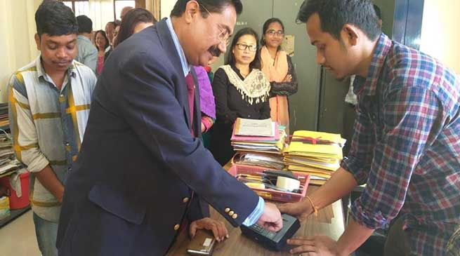 Itanagar: RGU goes live with Biometric Attendance system