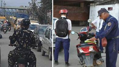 Photo of Itanagar- Helmetless cop caught on camera in capital complex