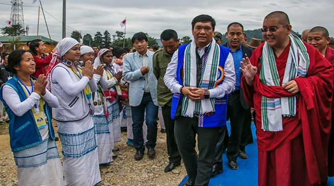 Arunachal: Khandu attended the Indigenous Faith Day celebration at Pasighat