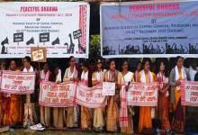 Anti CAA protest, Dharna by Assamese Society