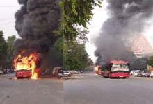 Photo of Anti-CAB violence erupts in Delhi, 4 buses burnt, 2 injured