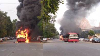 Photo of Anti-CAB violence erupts in Delhi, 4 buses burnt, 2 injured