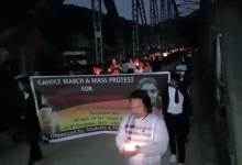 Photo of Dr Priyanka Reddy case: Candle march and mass protest in Sagalee