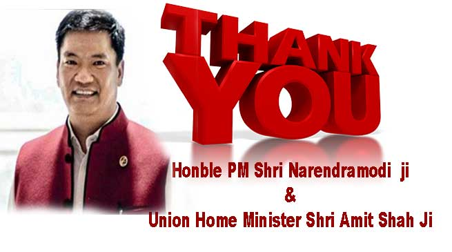 Pema Khandu thanks PM, HM for exempting Arunachal from CAB
