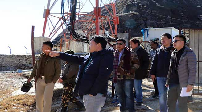 Tawang: FFC on poor data connectivity visits and inspected tower