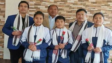 Photo of Arunachal: Mama Natung felicitates 3 wushu medal winners