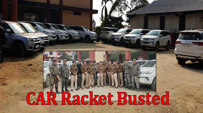 Itanagar: Capital police busted Car racket, 4 arrested,recovered 9 Fortuner, 1 Creta and 2 Brezza