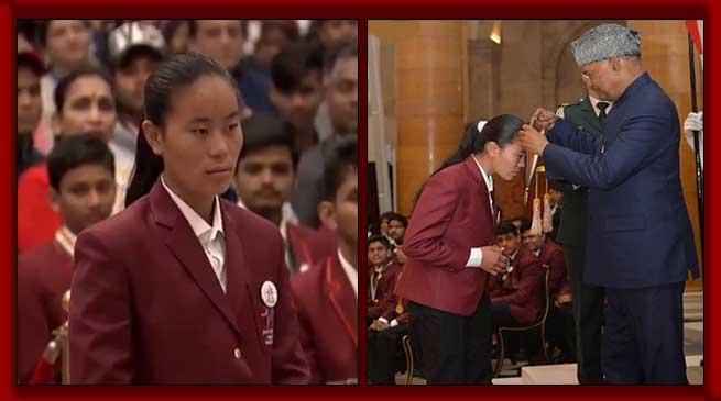 Arunachali girl Kumari Pema honoured with Bravery Award