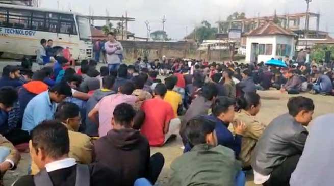 Arunachal: NIT students go on strike demanding permanent campus