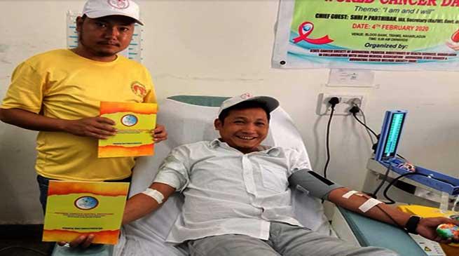 Arunachal: Blood Donation Camp to mark World Cancer Day