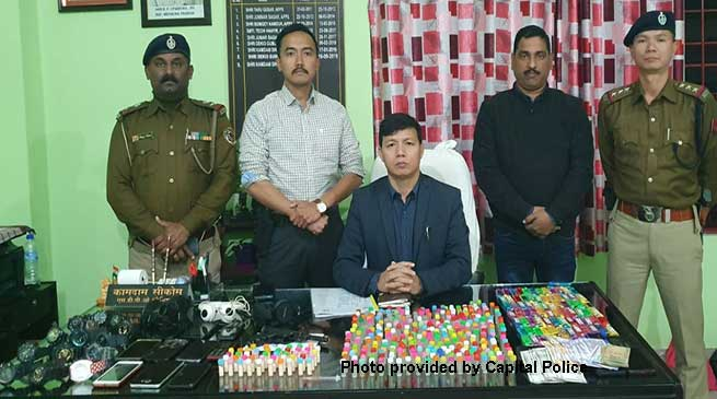Itanagar: 2 Drug Peddlers with brown sugars nabbed, stolen mobiles, watches recovered