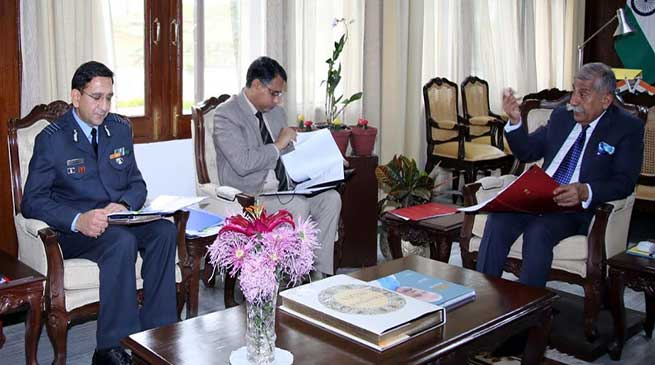 Arunachal:Governor chairs high-level Air Force and State Government Officers' meeting