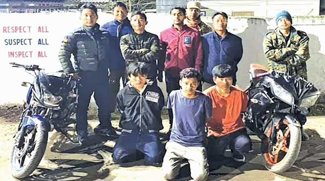 Arunachal: Roing police arrested 3 robbers, recovered 2 motorcycles
