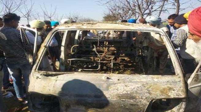 4 children burnt alive as school van catches fire in Punjab