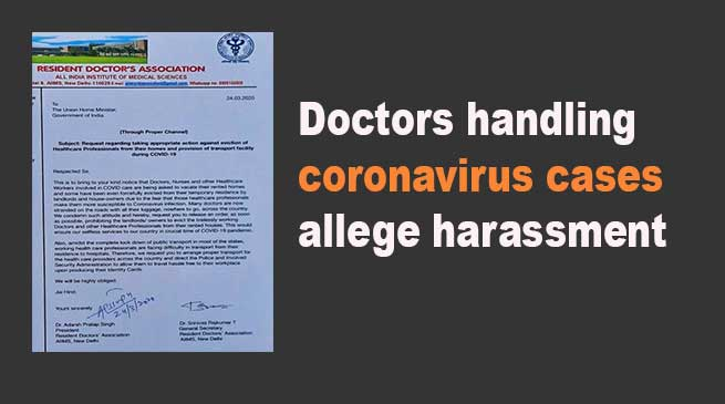 AIMS Doctors handling coronavirus cases allege harassment