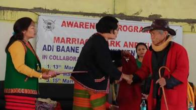 Photo of Arunachal: ABKWW launches awareness program on use of marriage mark and Adi shawl