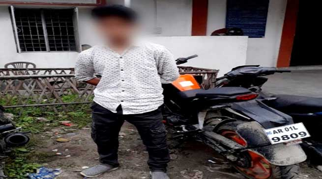Itanagar:Police Nabbed One Habitual Bike Lifter From Assam