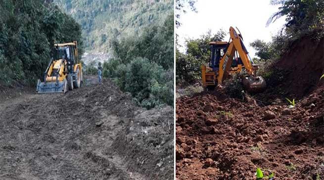 Arunachal: Villagers of Radha village starts voluntary road renovation work