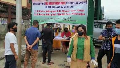 BJP Mahila Morcha begins free Mask distribution camp in twin capital city