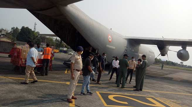 Covid-19 crisis: IAF cargo flight reached with Medical Consignment