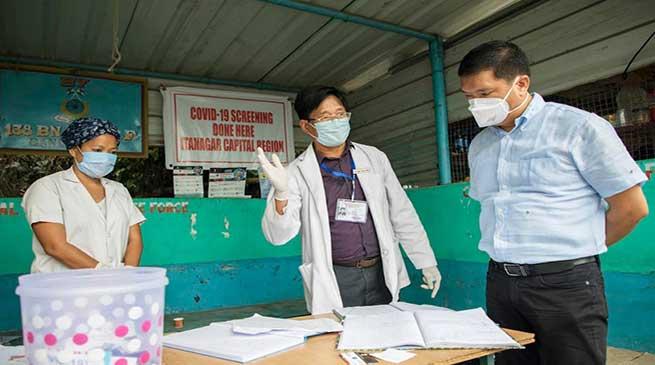 Coronavirus Crisis: Khandu inspects Banderdewa check gate
