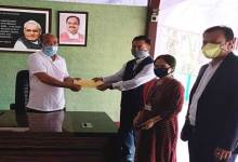 Photo of MWSAP handed over an amount of Rs.75000/- to CM of Manipur