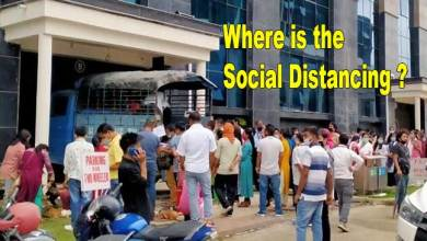 Photo of Where is the Social Distancing? Lockdown Violated As Crowd Gathers To Buy Chicken inside Civil Secretariat Campus