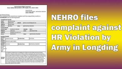 Photo of Arunachal: NEHRO files complaint against HR Violation by Army in Longding