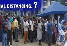 Photo of Arunachal: A mockery of social distancing at SBI in Itanagar