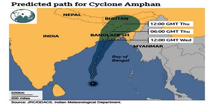 Cyclone Amphan has made violent landfall in eastern India and Bangladesh, lashing communities along the coast with ferocious wind and rain. It uprooted trees and toppled dwellings in both countries, including in the Indian city of Kolkata in West Bengal.