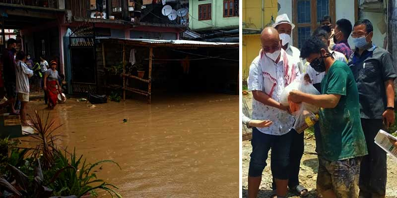 Itanagar: Chandanagar submerged in flood water, 99 families affected