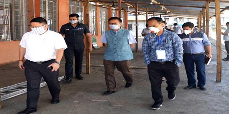 Arunachal: State Quarantine Center Lekhi starts functioning, Taba Tedir visits the centre