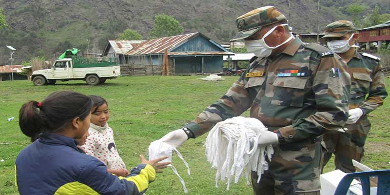 Arunachal: Army conducts covid-19 awareness campaign at Taksing