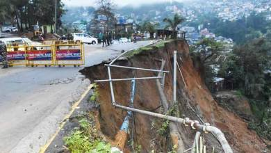 Photo of Itanagar: Portion of T T Marg collapse due to heavy rainfall
