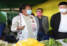 Photo of Arunachal: Tawang MLA Tsering Tashi inaugurates sales counter of Agriculture produce