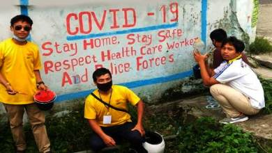Photo of Arunachal: poster and wall writing campaign on coronavirus by NYK and NDRF