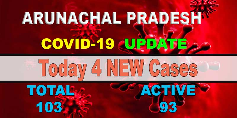Arunachal reports 4 fresh COVID-19 cases, 3 Cured and discharged
